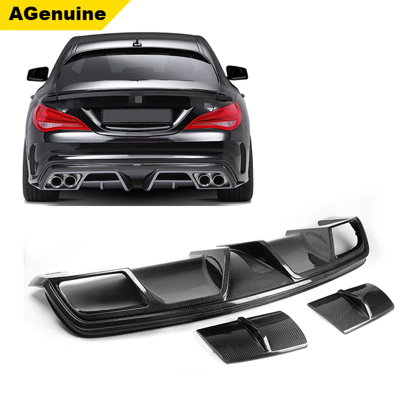 Piecha Carbon fiber car parts body rear bumper lip rear diffuser for mercedes benz CLA 250 cla260 cla45 <strong>W117</strong>