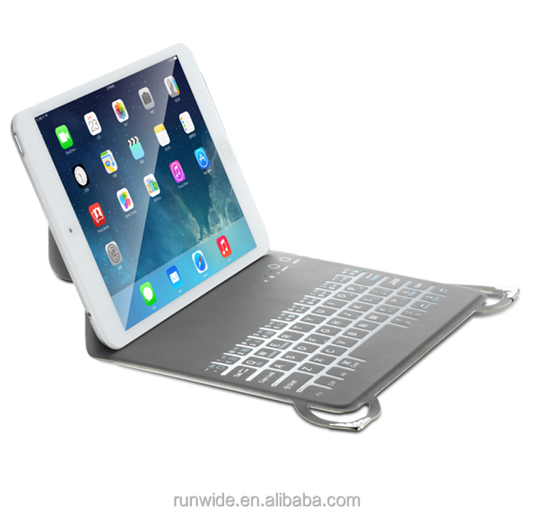 with Pu leather case mini wireless bluetooth keyboard for ipad 2 ipad 3 ipad 4