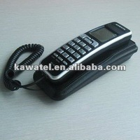 Home and bedroom trimline telephone with display