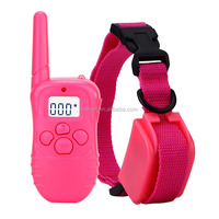2016 China manufacture produce customized pink color waterproof dog shock collar