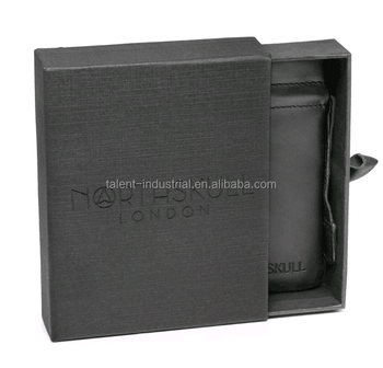 Black hard cardboard drawer packaging gift box with foil logo/ Drawer Packaging Sliding Paper Box Pull Out,free artwork