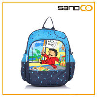 wholesale navy blue cute school backpack book bags for kids