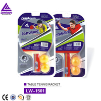 Low price wholesale Pimples in/out single packing 1-star 2 balls table tennis racket