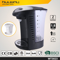 Non metal heater without limescale hot 1.8L electric 3s instant water kettle