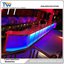 Used Home Bar Furniture Artificial Stone Long Illuminated Bar Table