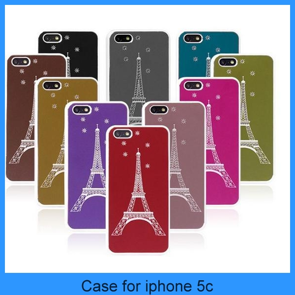 2013 new arrival case for iphone 5c with Paris tower (PT-I5C214)