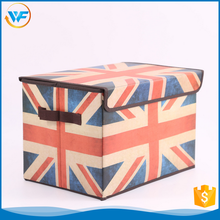 Custom Square Nursery Non Woven Foldable Line Fabrics Dvd Storage Box