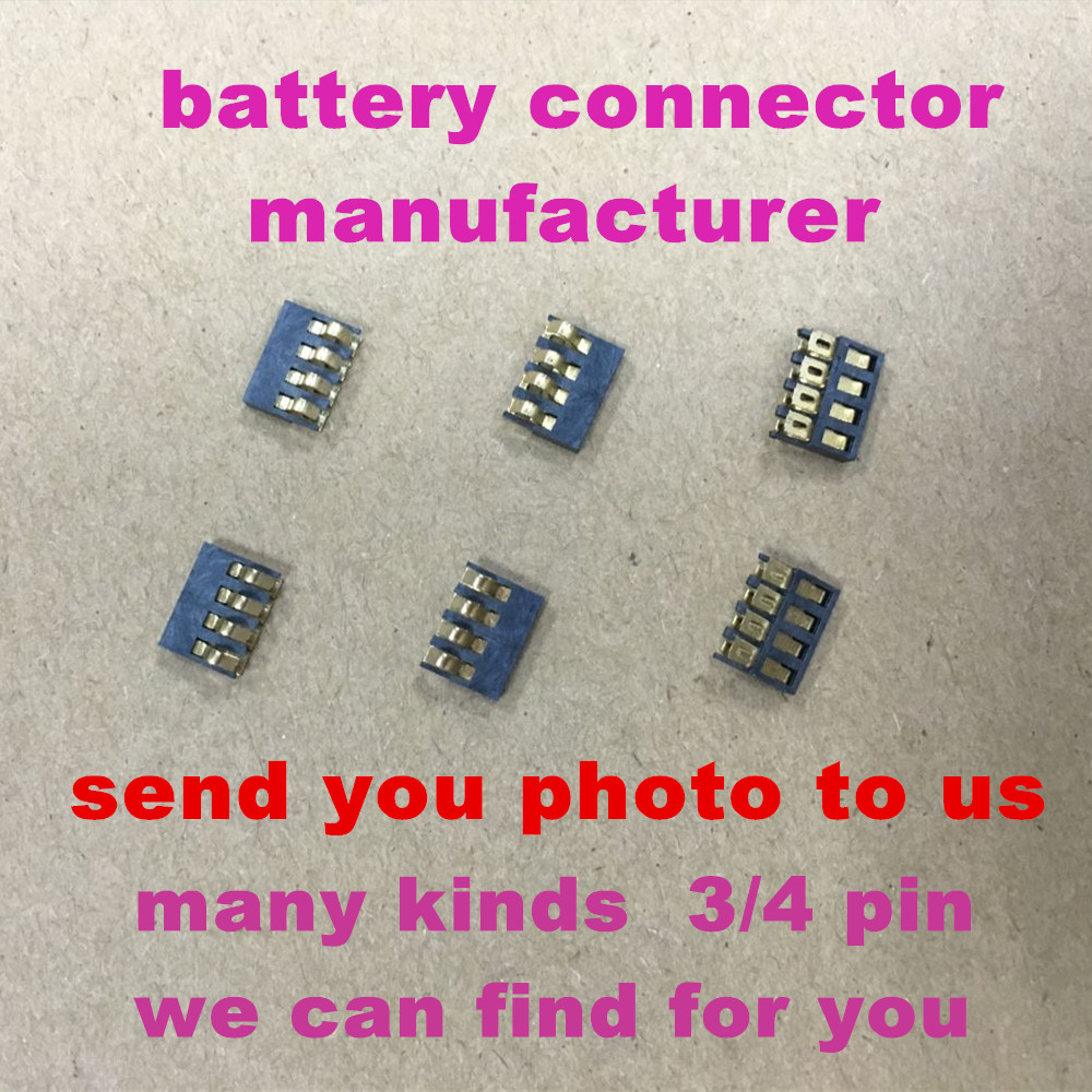 factory price 3 pin battery connector for pcb connector 4 pin mobile phone battery connector