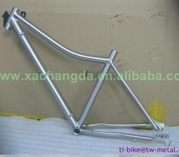 700c high quality and durable Titanium mtb bike frames with curved top tube and sliding dropouts