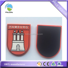 Custom Shield Shape Hamburg Germany Soft Rubber Souvenir Fridge Magnet