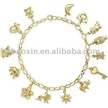 New popular gold plated charm bracelet