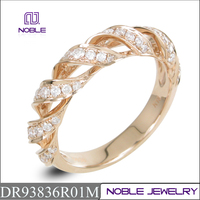 0.38ctw diamond new solid 18K rose gold ring
