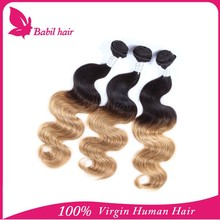 Hot selling unprocessed 100% virgin brazilian kinky curly two tone 6a remy brazilian hair extension