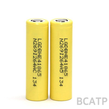 100% Original promotion yellow lghe4 18650 battery ICR18650HE2/HE4 2500mah LG 35A discharge authentic LGHE4 18650 battery