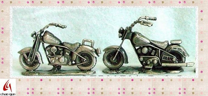 2012 crafts classical pewter motorcycle model 72