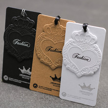 luxury paper hangtags embossed shoes hang tag