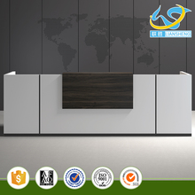 Reception Counter Wood Painting Finished Reception Desk Beauty Salon Cheap Reception Desk White