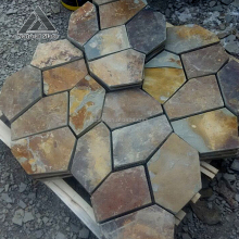 Promotion Mesh Back Paver Stone Non-slip Rustic Slate Bathroom Floor Tile