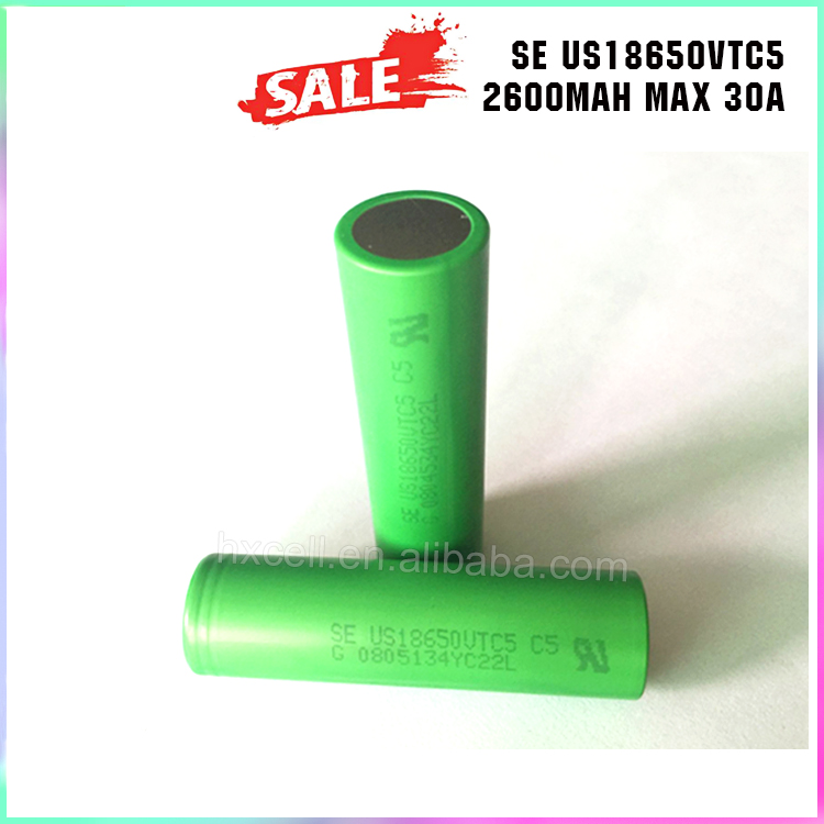 Quality Assurance 18650 Li-Ion Battery VTC5 3.7V 2600mAh 30A US18650VT