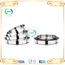 Nicety new design round type metal stainless steel bakery plate / fruit tray