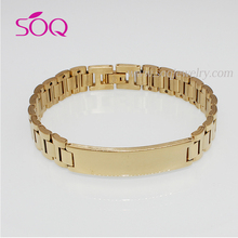 2016 Unique Stainless Steel Fashion Charms Link Chain Bracelet for Men Luxury Jewelry
