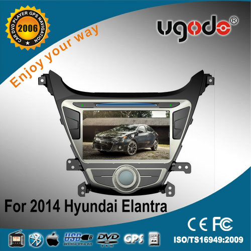 ugode two din for 2014 Hyundai Elantra car DVD with DVD GPS radio bluetooth IPOD USB SD car multimedia player