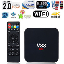 V88 TV BOX Rockchip 3229 Android 5.1 1G RAM 8G ROM WiFi 4K Kodi 16.0 Loaded Smart Box