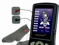 Home relaxing reflexology blood circulation physical tens foot massage machine with gloves