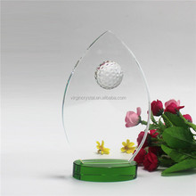 Hot selling crystal glass golf souvenir trophy globe award for sale
