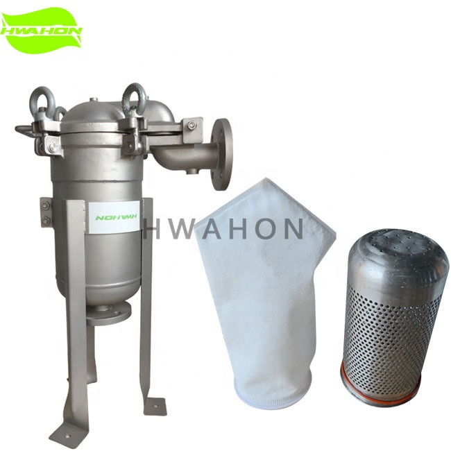 ISO 9001:2008 certificate Stainless steel material and 10-30T/H single bag filter housing chemical liquid filter <strong>filtration</strong>