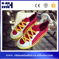 Latest European Trend Fashion Splicing Flat Sport Women Sneakers