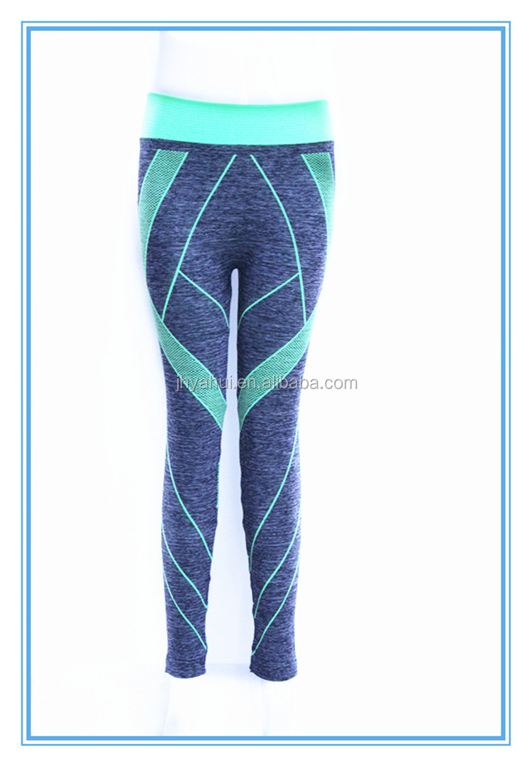 Ladies seamless spandex tight fitness sport pant