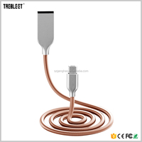 Stainless Steel Aluminum Spring Fast Charge QC 3.0 Micro USB Cable
