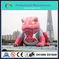 Huge inflatable frog for advertising/giant inflatable frog cartoon for sale/inflatable frog model for sale