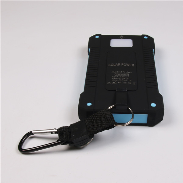 New coming Promotional Waterproof Solar Power Bank 10000mah Mobile Solar Power With Compass