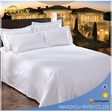 100% Cotton Custom White Sateen Bedding Sets Star Hotel Used Bedsheets