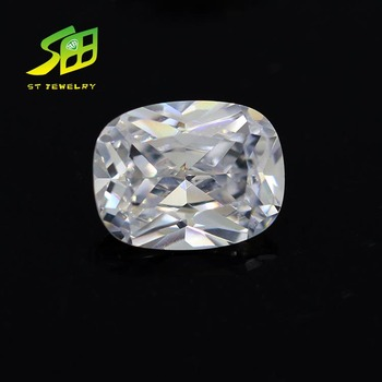 3A top quality cubic zirconia cushion cut gemstone