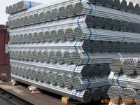 BS1387 EN10255 ASTM A53 B Hot dipped Galvanized steel pipe, GI pipes, threaded with socket, grooved