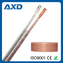 XD-8017 OFC Transparent Flexible Speaker Cable flat type for audio and video systems