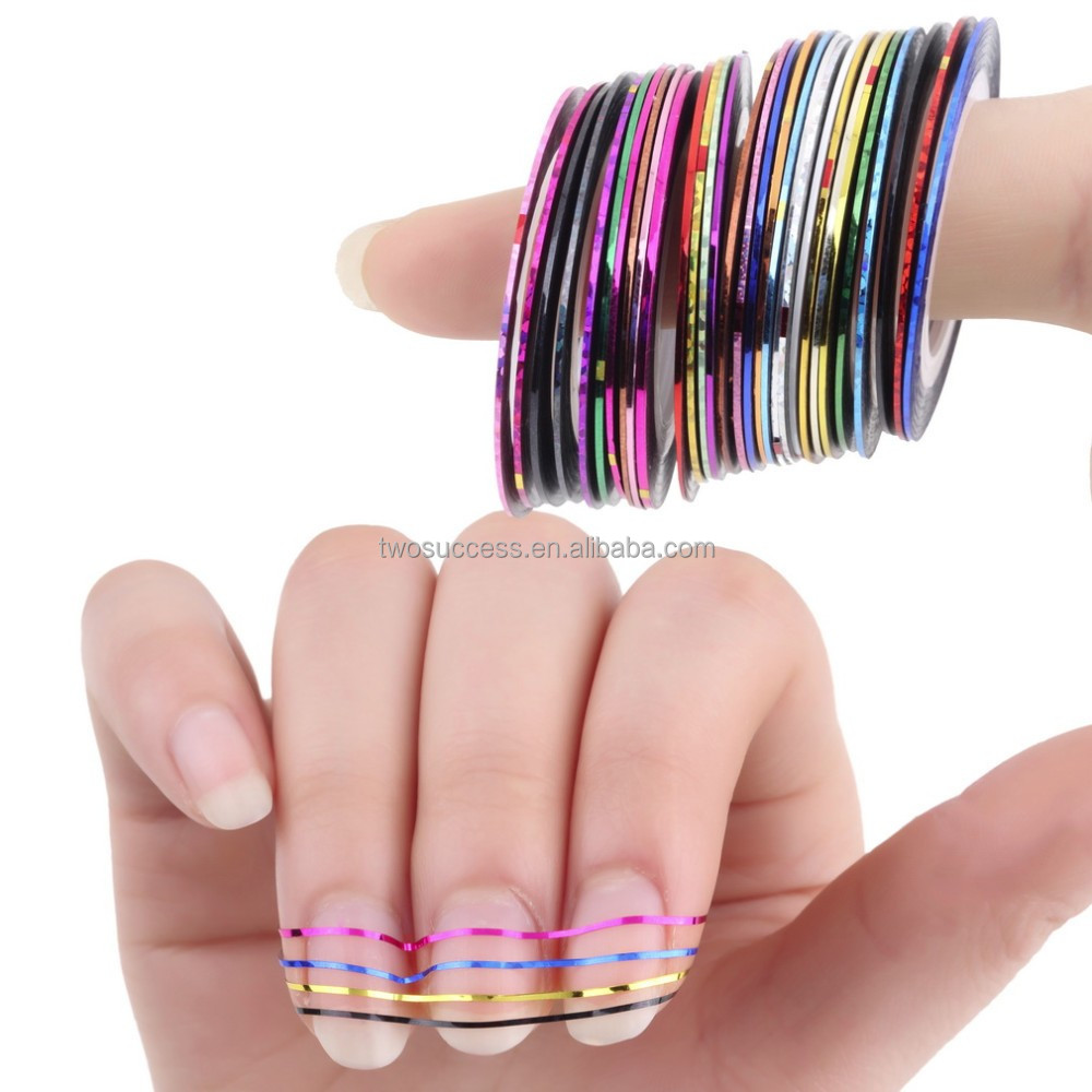 Self Adhesive Colorful Nail Art DecorationThin Nail Guide Stripping Tape