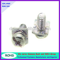 cross recessed pan head machine screw and square washer