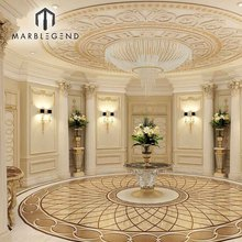 factory direct sale dubai style floor tile pattern design chic marble medallion
