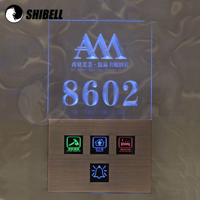 SHIBELL LED Backlight hotel room switch panel with doorbell and DND