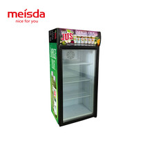 130 liters cold drink displaying coke cooler refrigerator with led light inside