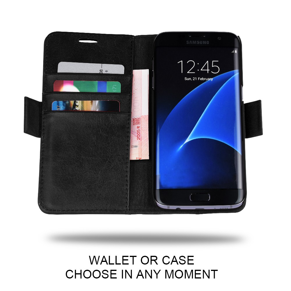 C&T Detachable Magnetic Wallet Folio PU Leather Case Cover For Samsung Galaxy S8