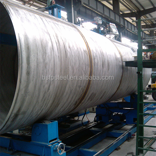 ASTM A409/ASME SA 409 Large Diameter Stainless Steel Welded Pipe for warhouse building support
