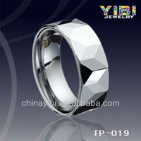 Brand New Mens White Diamond Cut Tungsten Carbide Wedding Ring Band Fashion Jewelry