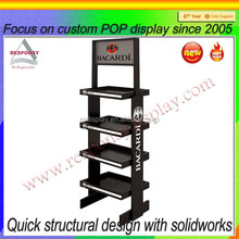 Metal Tier Free Standing Torch Display Stand and Rack