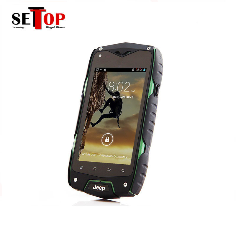 Cheapest 3G waterproof IP67 4 inch Android dual sd card camera mobile used 3g phone rugged