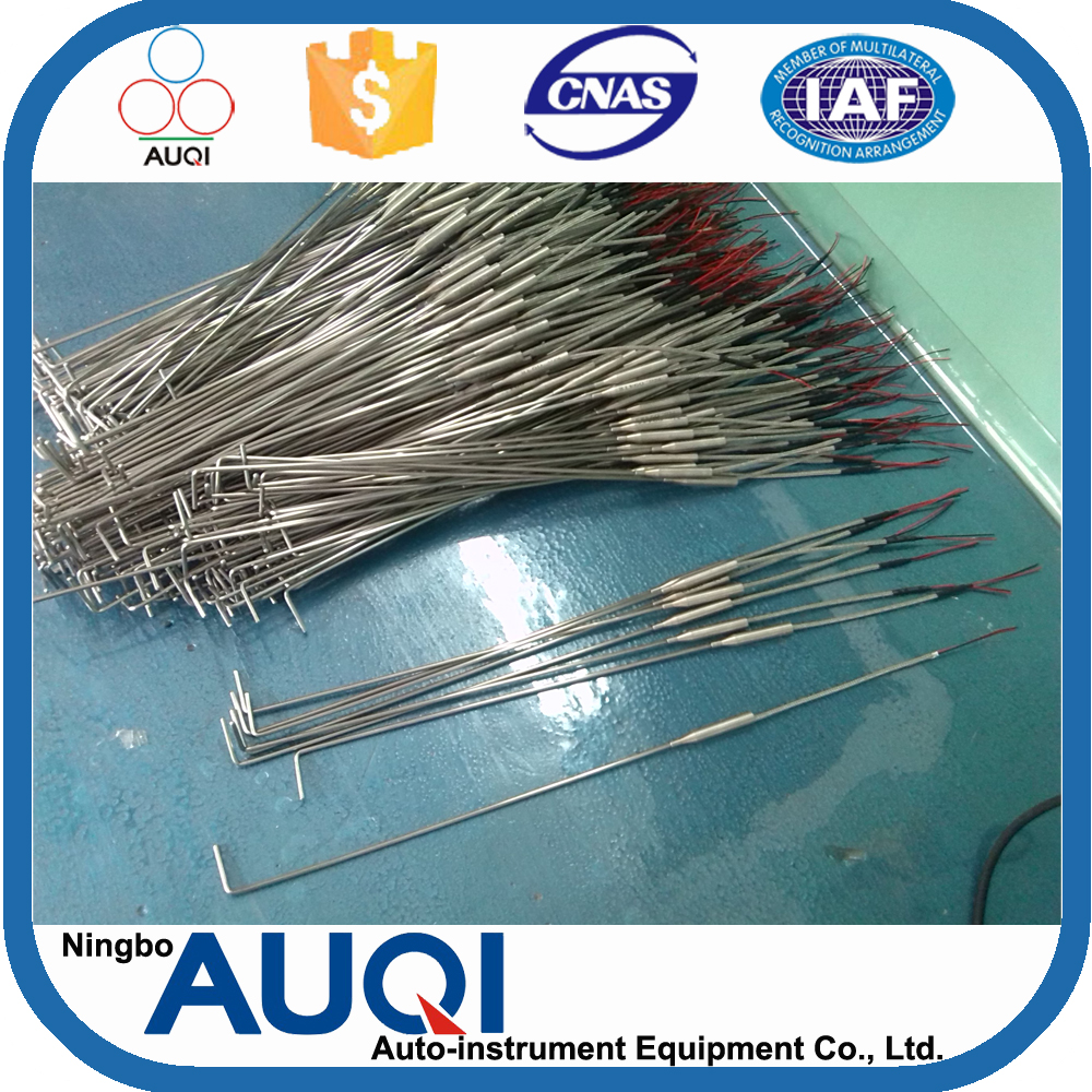 Ningbo Auqi douplex thermometer types, bend 90 degree propane thermocouple, k/e/t/j type thermocouple for gas grill